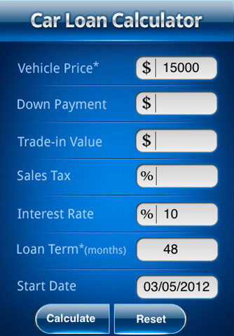 Used Car Down Payment Calculator >> Amortization Calculator For Car Loan Used Cars For Sale
